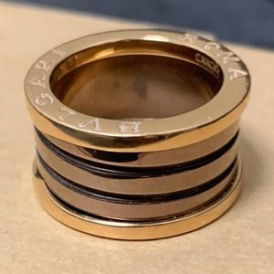 Bvlgari B.zero1 Ring  Rose Gold NEW 6 1/2 Bulgari
